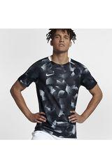Nike Negro /gris de Hombre modelo m nk dry sqd top ss cl Polos Deportivo