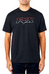 Fox Negro / rojo de Hombre modelo due head ss basic Deportivo Polos