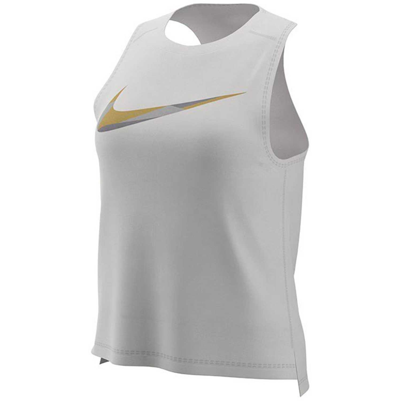 d739dc1143cdf Bividi de Mujer Nike Blanco w nk miler tank metallic