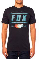 Fox Negro / celeste de Hombre modelo team 74 ss Deportivo Polos