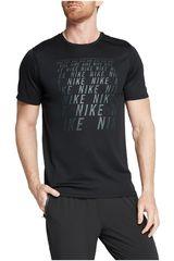 Nike Negro de Hombre modelo m nk run top ss gx Polos Deportivo