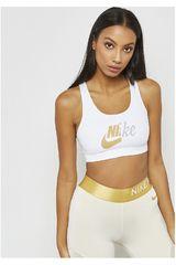 Nike Blanco / dorado de Mujer modelo nike swoosh mtlc futura bra Tops Deportivo