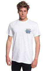 Polo de Hombre Quiksilver Blanco / azul tropic eruption
