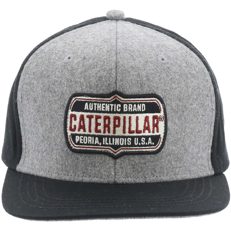 Gorro de Hombre CAT Gris / negro brand patch hat