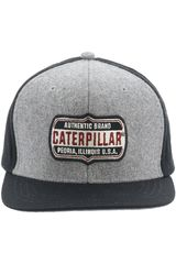 CAT Gris / negro de Hombre modelo brand patch hat Gorros
