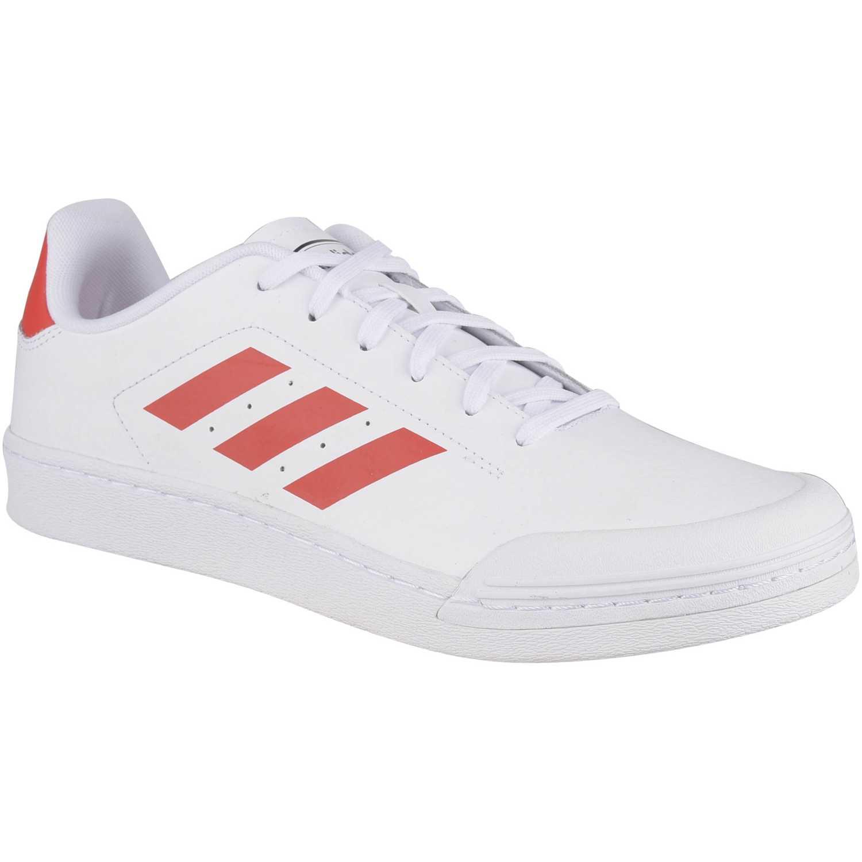Zapatilla de Hombre Adidas Blanco / rojo court70s