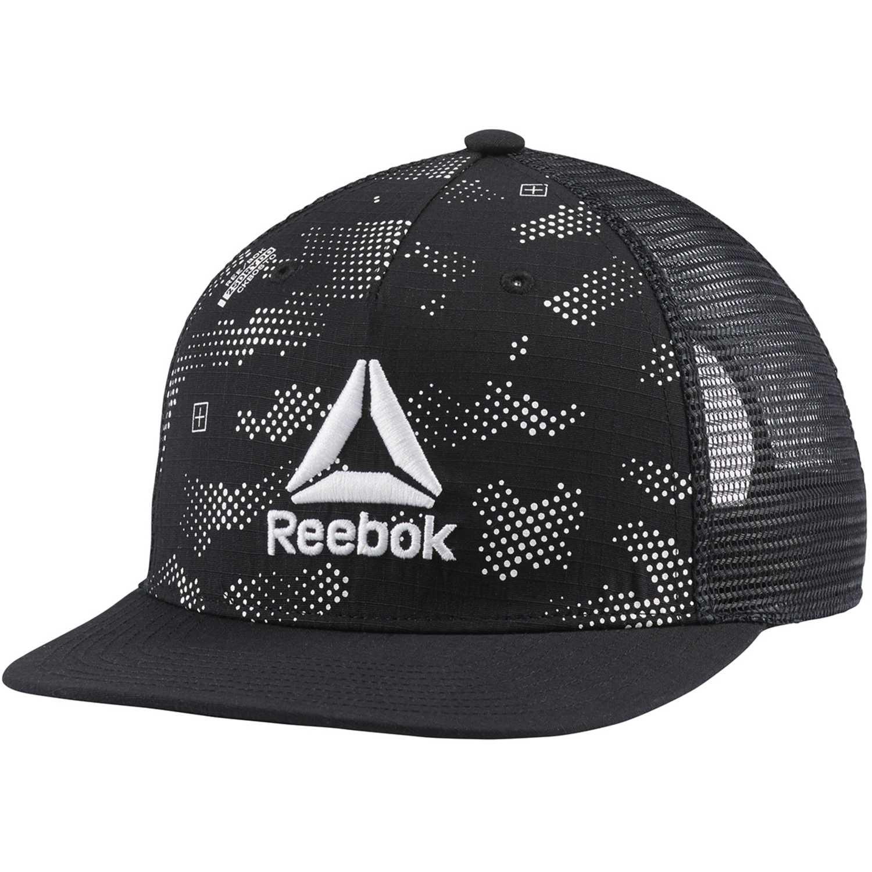 Gorro de Hombre Reebok Negro / plomo act enh gr flat peak cap