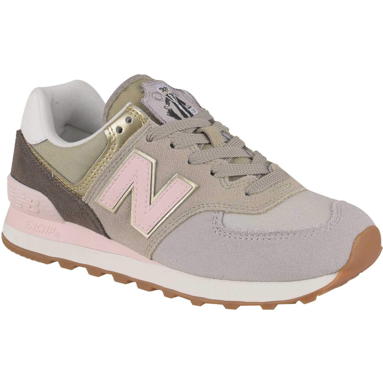 Zapatilla de Mujer New Balance Beige/rosado 574