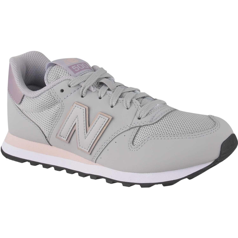 0ec45bed106 Zapatilla de Mujer New Balance Gris   rosado 500