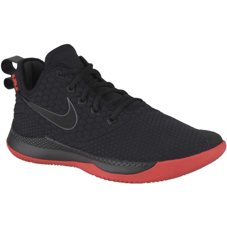 ddd7094087e9e Zapatilla de Hombre Nike Negro   rojo lebron witness iii ...