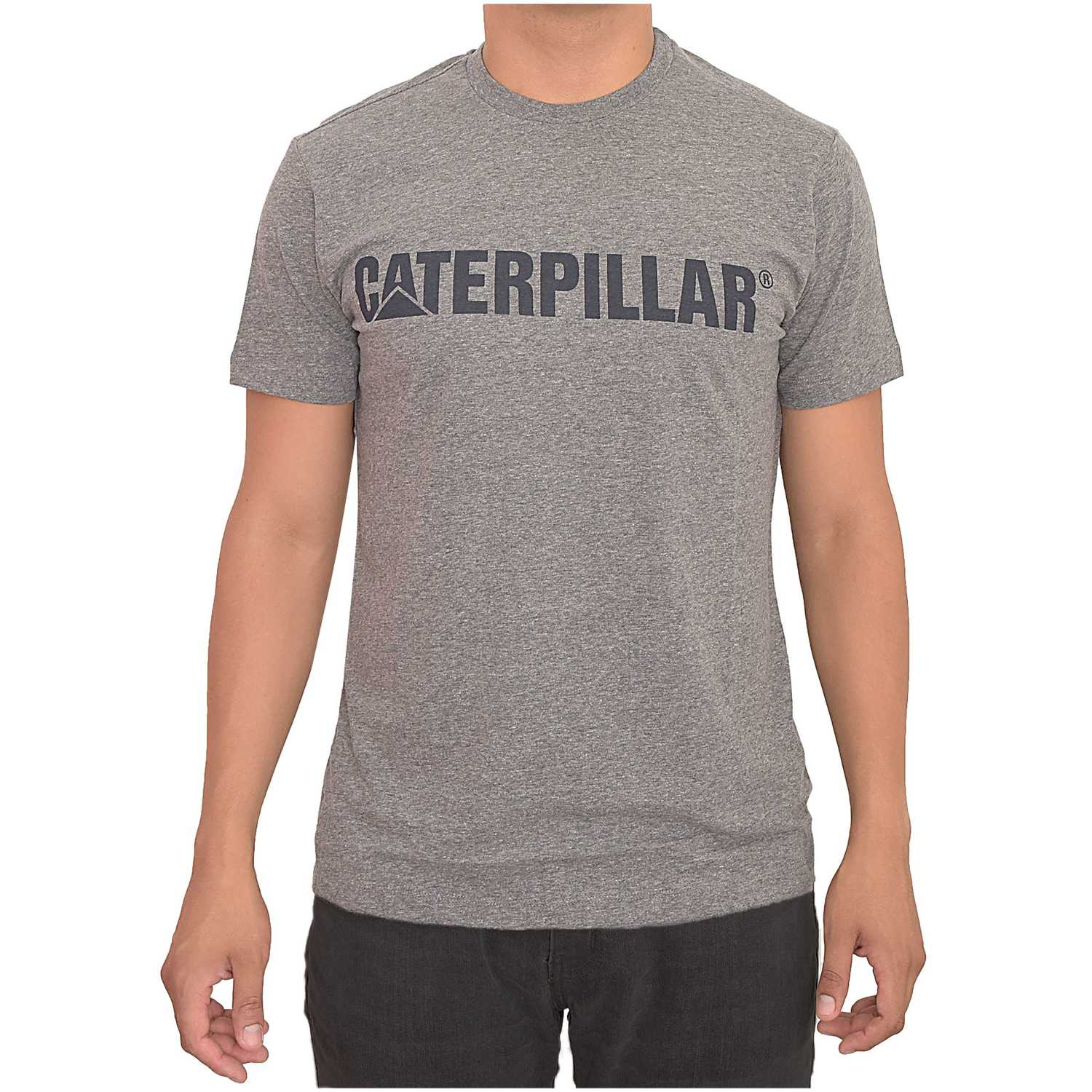 Polo de Hombre CAT Azul slim fit caterpillar logo tee