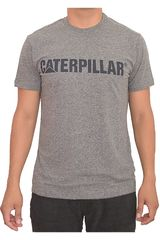 CAT Azul de Hombre modelo slim fit caterpillar logo tee Polos Casual