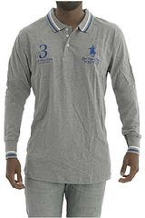 Polo de Hombre BERKSHIRE POLO CLUB Gris polera-159-1536187