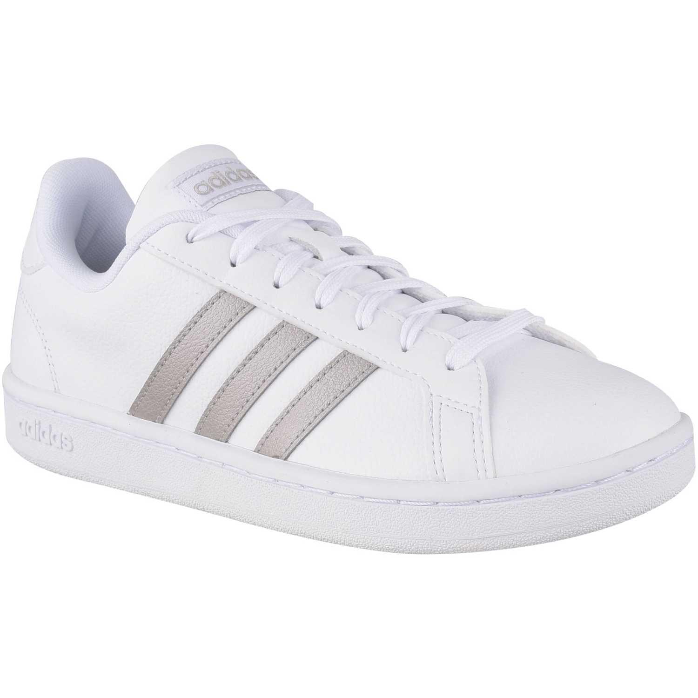 Zapatilla de Mujer Adidas Blanco / plateado grand court