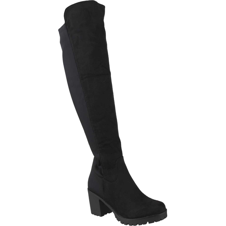 Bota Larga de Mujer Platanitos Negro bp 4535