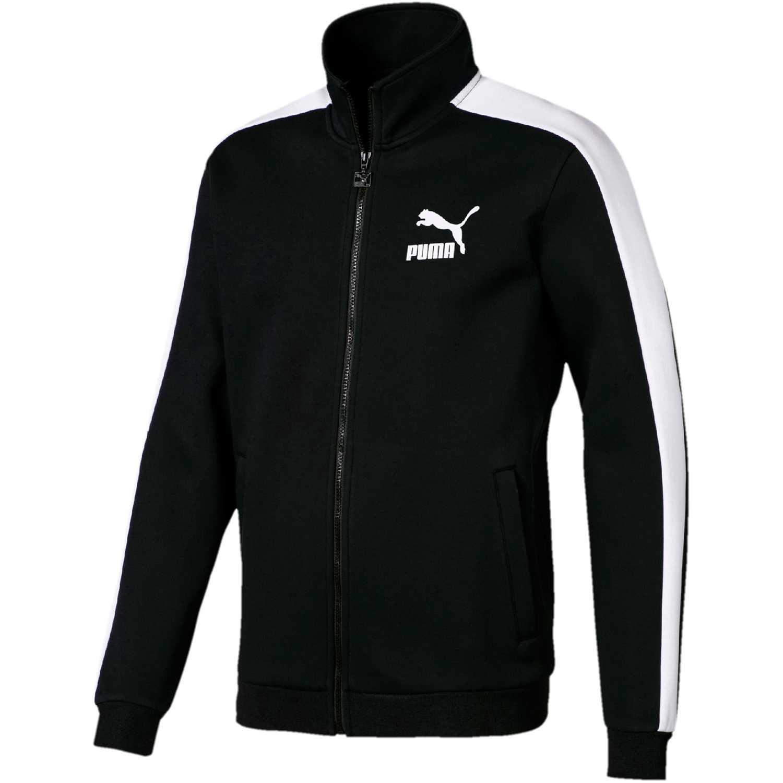 1ffc80408 Casaca de Hombre Puma Negro / blanco iconic t7 track jacket dk ...