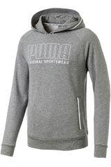 Polera de Hombre Puma Gris / blanco athletics hoody tr