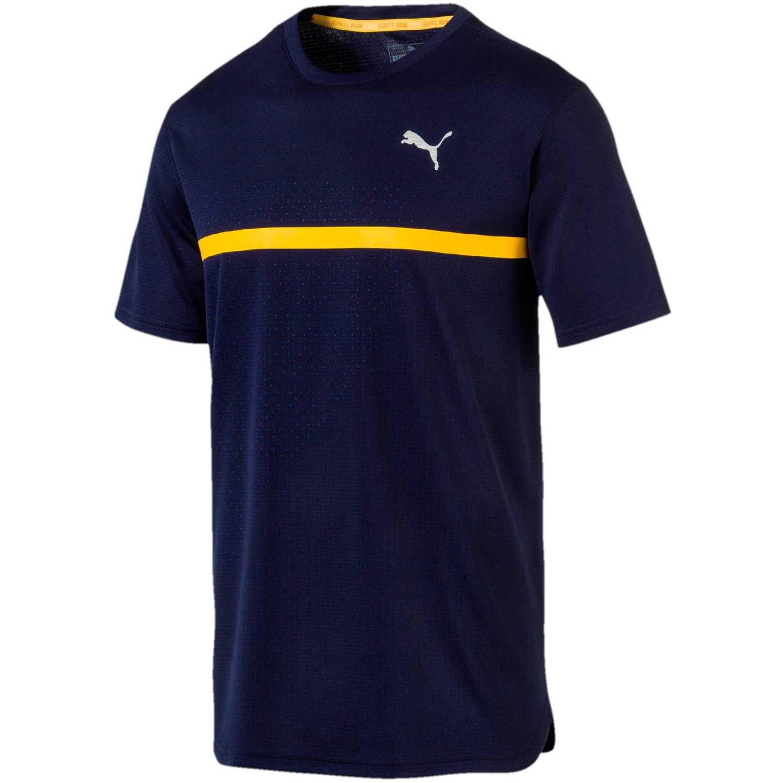 Polo de Hombre Puma Azul / amarillo ignite graphic tee