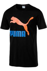 Polo de Hombre Puma Negro / naranja classics logo tee
