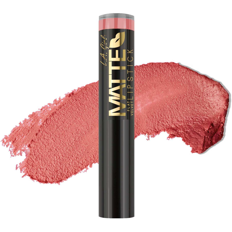 Lapiz Labial Barra de Mujer L.a. Girl Hush matte flat velvet lipstick