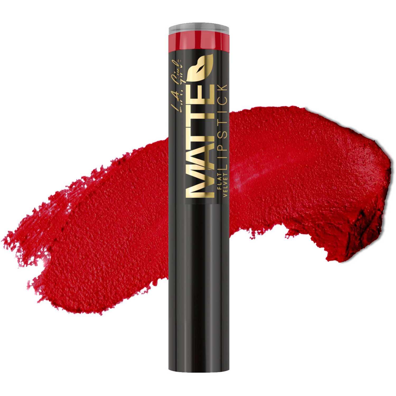 Lapiz Labial Barra de Mujer L.a. Girl Relentless matte flat velvet lipstick
