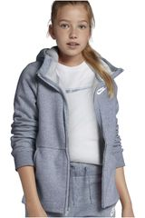 Casaca de Niña Nike g nsw hoodie fz pe Plomo