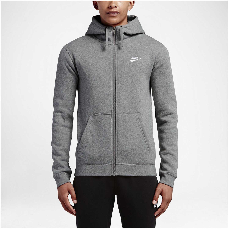 Casaca de Hombre Nike Gris m nsw club hoodie fz bb