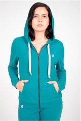 Rising Dragon Verde de Mujer modelo casaca mujer french terry Deportivo Casacas