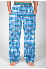 Rising Dragon Celeste / blanco de Hombre modelo pantalón pj franela Ropa Interior Y Pijamas Pijamas Lencería