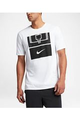 Nike Blanco / negro de Hombre modelo m nk dry tee df core art 1 Deportivo Polos