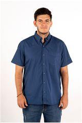 Ritzy Of Italy Azul de Hombre modelo camisa Camisas Casual