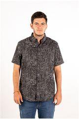 Ritzy Of Italy Negro de Hombre modelo camisa Casual Camisas