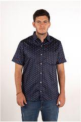 Ritzy Of Italy Navy de Hombre modelo camisa Casual Camisas