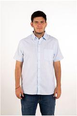 Ritzy Of Italy Celeste de Hombre modelo camisa Casual Camisas
