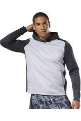 Reebok Negro / plomo de Hombre modelo ost spacer hoodie Poleras Deportivo