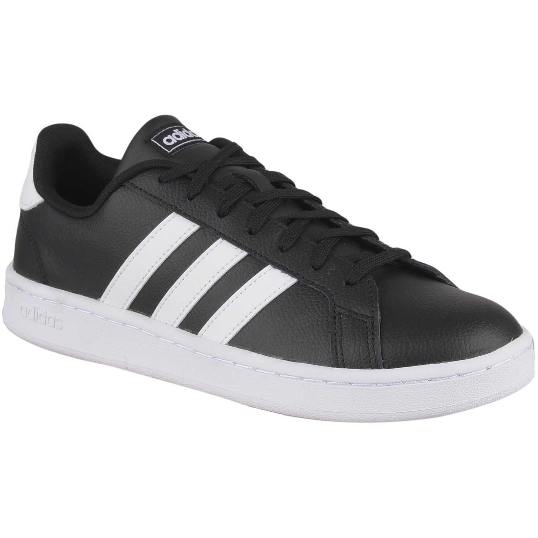 Zapatilla de Hombre Adidas Negro / blanco grand court