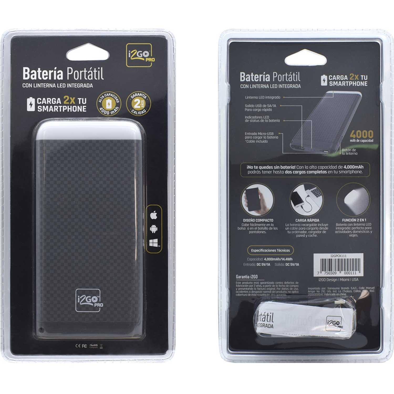 Bateria portatil  I2go Pro Gris bateria portatil 4000 amp con linterna