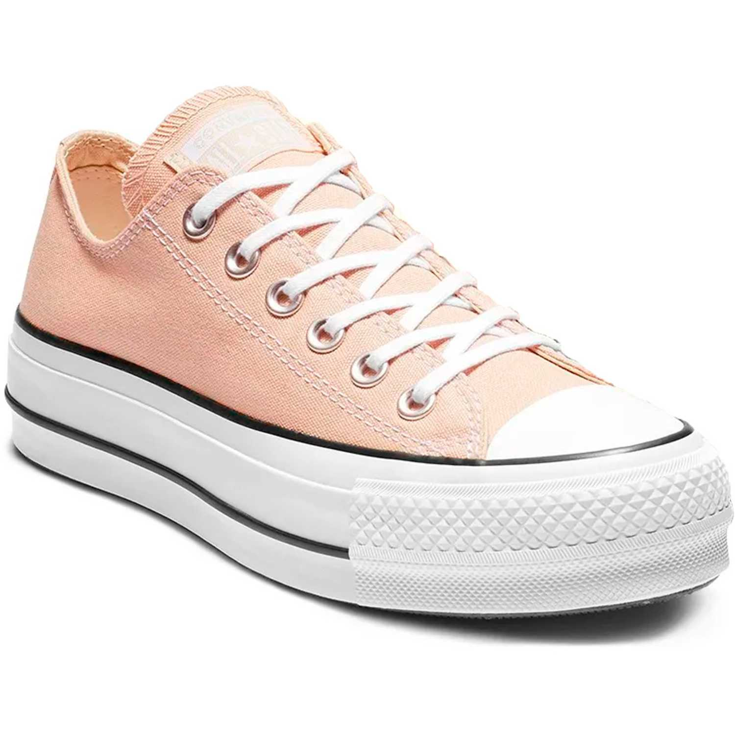 Zapatilla de Jovencita Converse Blanco chuck taylor all star lift seasonal ox
