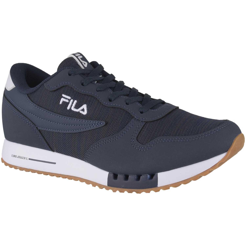 da3c055a4ac Zapatilla de Hombre Fila Azul tenis fila euro jogger sport masculino ...
