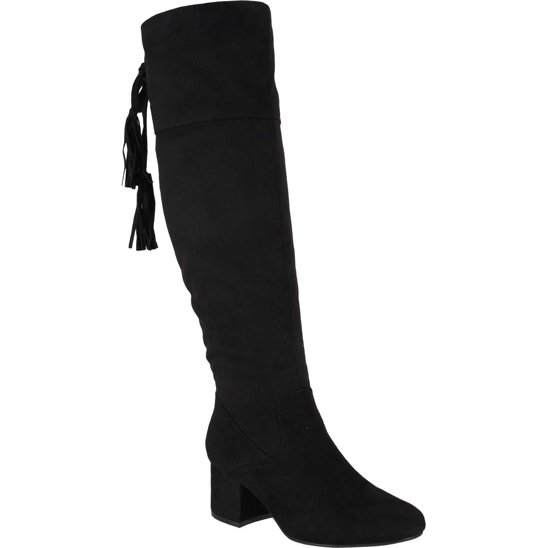Bota Larga de Mujer Platanitos Negro b 3726