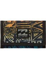 Billetera de Hombre Billabong Negro / naranja atom wallet