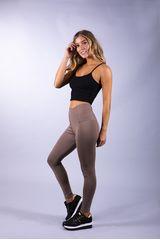 Pantalonia Marron de Mujer modelo leg color elastico cintura cubierto Pantalones Leggins Pantalonetas Casual
