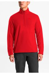 Casaca de Hombre The North Face Rojo m tka 100 glacier 1/4 zip