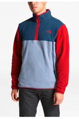 The North Face Rojo / azul de Hombre modelo m glacier alpine 1/4 zip Casacas Deportivo