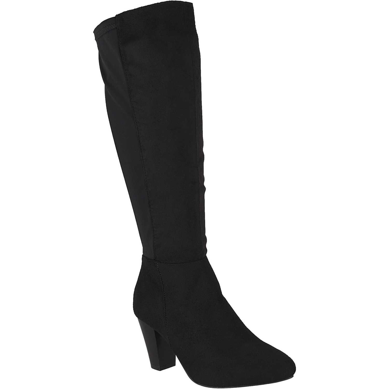 Bota Larga de Mujer Platanitos Negro b 6407