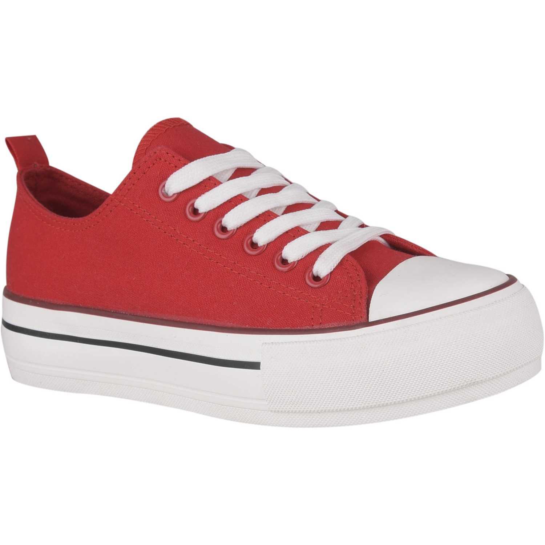 Zapatilla de Mujer Just4u Rojo zc 2425