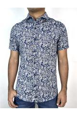 ROCK & RELIGION Azul / blanco de Hombre modelo axel Casual Camisas