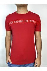ROCK & RELIGION Rojo / blanco de Hombre modelo forced Casual Polos