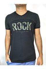 ROCK & RELIGION Negro / verde de Hombre modelo dustin Casual Polos