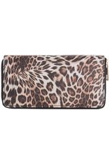 Billetera de Mujer Platanitos Leopardo / Marron 18wwxx8062